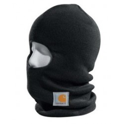 Carhartt - 35481371141 - Carhartt Black 100 Gram 100% Acrylic Rib-Knit Fabric Over The Head Face Mask With Thinsulate Flex Insulation Lining And Extra Long Neck, ( Each )