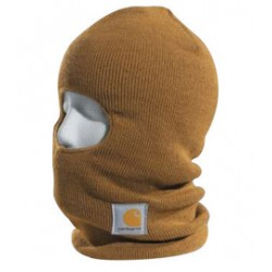Carhartt - 35481371134 - Carhartt Brown 100 Gram 100% Acrylic Rib-Knit Fabric Over The Head Face Mask With Thinsulate Flex Insulation Lining And Extra Long Neck, ( Each )