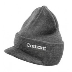 Carhartt - 35481371196 - Carhartt Coal Heater 100% Acrylic Rib-Knit Fabric Classic Watch Winter Knit Hat With Visor, ( Each )