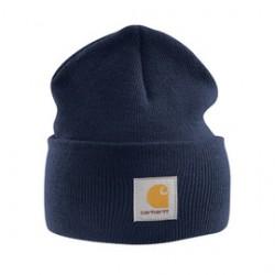 Carhartt - 35481001444 - Carhartt Navy Blue 100% Acrylic Rib-Knit Fabric Watch Hat, ( Each )