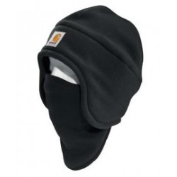 Carhartt - 35481418297 - Carhartt Black 100% Polyester Fleece 2-In-1 Headwear With 90% Polyester 10% Spandex Pull-Down Face Mask, ( Each )