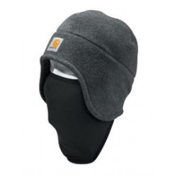 Carhartt - 35481495601 - Carhartt Charcoal Heather 100% Polyester Fleece 2-In-1 Headwear With 90% Polyester 10% Spandex Pull-Down Face Mask, ( Each )
