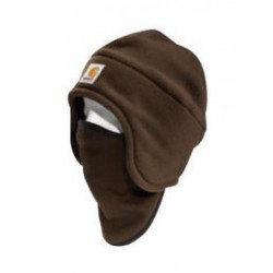 Carhartt - 35481626302 - Carhartt Dark Brown 100% Polyester Fleece 2-In-1 Headwear With 90% Polyester 10% Spandex Pull-Down Face Mask, ( Each )
