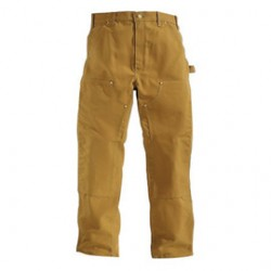 """Carhartt - 35481069017 - Carhartt Size 46"""" X 32"""" Carhartt Brown 12 Ounce Cotton Duck Straight Leg Original Fit Pants With Zipper Front Closure, Double front with cleanout openings that accommodate knee pads And Left-leg hammer loop, ( Each )"""
