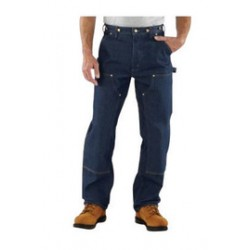 """Carhartt - 35481026119 - Carhartt Size 33"""" X 32"""" Denim 15 Ounce Denim Straight Leg Loose Fit Jeans With Zipper Front Closure, Double front with cleanout openings that accommodate knee pads And Left-leg hammer loop, ( Each )"""