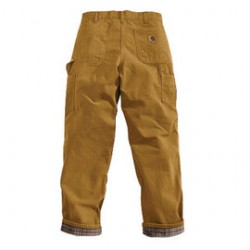 """Carhartt - 35481118593 - Carhartt 32"""" X 32"""" Brown Flannel Lined 12 Ounce Cotton Duck Washed Dungaree (2) Reinforced Back Pockets, Hammer Loop, Multiple Tool And Utility Pockets, ( Each )"""