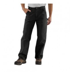"Carhartt - 35481184123 - Carhartt Size 38"" X 32"" Black 12 Ounce Cotton Duck Straight Leg Loose Fit Pants With Zipper Front Closure, Multiple tool and utility pockets And Left-leg hammer loop, ( Each )"