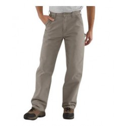 """Carhartt - 35481129186 - Carhartt Size 38"""" X 32"""" Desert 12 Ounce Cotton Duck Straight Leg Loose Fit Pants With Zipper Front Closure, Multiple tool and utility pockets And Left-leg hammer loop, ( Each )"""