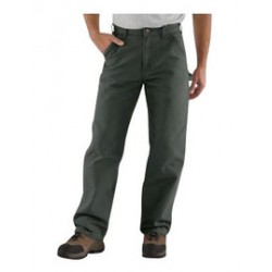 """Carhartt - 35481544958 - Carhartt Size 44"""" X 34"""" Moss 12 Ounce Cotton Duck Straight Leg Loose Fit Pants With Zipper Front Closure, Multiple tool and utility pockets And Left-leg hammer loop, ( Each )"""