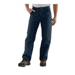 "Carhartt - 35481248702 - Carhartt Size 33"" X 32"" Midnight 12 Ounce Cotton Duck Straight Leg Loose Fit Pants With Zipper Front Closure, Multiple tool and utility pockets And Left-leg hammer loop, ( Each )"
