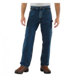 "Carhartt - 35481682414 - Carhartt Size 48"" X 30"" Deepstone 11.75 Ounce Denim Straight Leg Loose Fit Jeans With Zipper Front Closure, Left-leg hammer loop And, ( Each )"
