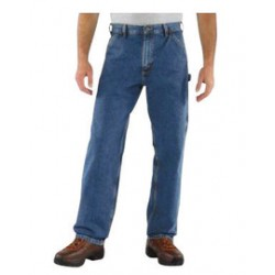 "Carhartt - 35481533921 - Carhartt Size 29"" X 30"" Darkstone 11.75 Ounce Denim Straight Leg Loose Fit Jeans With Zipper Front Closure, Left-leg hammer loop And, ( Each )"