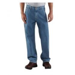 "Carhartt - 35481673382 - Carhartt Size 34"" X 34"" Stonewash 11.75 Ounce Denim Straight Leg Loose-Original Fit Jeans With Zipper Closure And Hammer Loop, ( Each )"