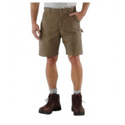 "Carhartt - 35481357206 - Carhartt Size 32"" Light Brown 7.5 Ounce Canvas Shorts With Zipper Closure And Right Leg Cell Phone Pocket, ( Each )"