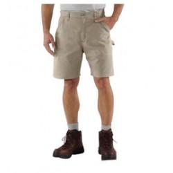 "Carhartt - 35481187025 - Carhartt Size 33"" Tan 7.5 Ounce Canvas Shorts With Zipper Closure And Right Leg Cell Phone Pocket, ( Each )"