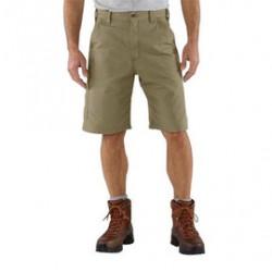 "Carhartt - 35481401831 - Carhartt Size 33"" Dark Khaki 7.5 Ounce Canvas Shorts With Zipper Closure And Hammer Loop And Ruler Pocket, ( Each )"