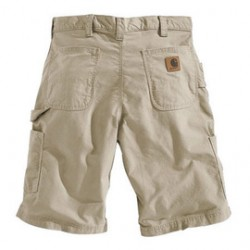 """Carhartt - 35481209123 - Carhartt Size 33"""" Tan 7.5 Ounce Canvas Shorts With Zipper Closure And Hammer Loop And Ruler Pocket, ( Each )"""