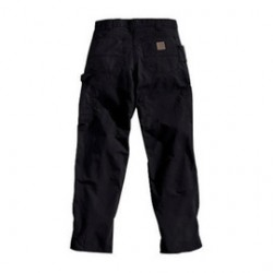 "Carhartt - 35481583063 - Carhartt Size 40"" X 30"" Black 7.5 Ounce Canvas Straight Leg Dungaree With Zipper Front Closure, Left-leg hammer loop And, ( Each )"