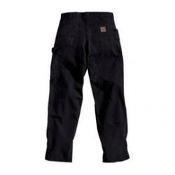 "Carhartt - 35481582936 - Carhartt Size 46"" X 32"" Black 7.5 Ounce Canvas Straight Leg Dungaree With Zipper Front Closure, Left-leg hammer loop And, ( Each )"
