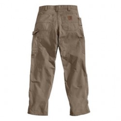 "Carhartt - 35481370830 - Carhartt Size 35"" X 32"" Light Brown 7.5 Ounce Canvas Straight Leg Dungaree With Zipper Front Closure, Left-leg hammer loop And, ( Each )"