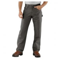 """Carhartt - 35481353000 - Carhartt Size 32"""" X 34"""" Charcoal 8.5 Ounce Canvas Straight Leg Pants With Zipper Front Closure, Cell phone pocket and utility pocket And, ( Each )"""