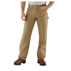 """Carhartt - 35481353215 - Carhartt Size 33"""" X 30"""" Golden Khaki 8.5 Ounce Canvas Straight Leg Pants With Zipper Front Closure, Cell phone pocket and utility pocket And, ( Each )"""