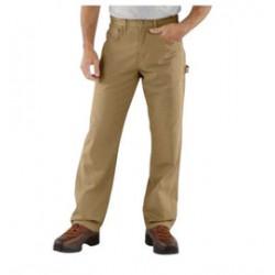 "Carhartt - 35481353529 - Carhartt Size 34"" X 34"" Golden Khaki 8.5 Ounce Canvas Straight Leg Pants With Zipper Closure And Cell Phone Pocket And Utility Pocket, ( Each )"