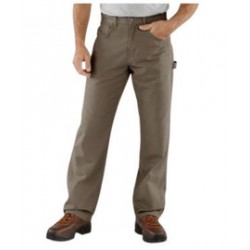 """Carhartt - 35481354373 - Carhartt Size 33"""" X 32"""" Mushroom 8.5 Ounce Canvas Straight Leg Pants With Zipper Front Closure, Cell phone pocket and utility pocket And, ( Each )"""