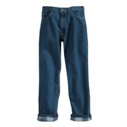"Carhartt - 35481381713 - Carhartt 34"" X 30"" Darkstone Flannel Lined 15 Ounce Cotton Denim Straight Leg Relaxed Fit Jean (2) Reinforced Back Pockets, ( Each )"