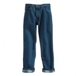 "Carhartt - 35481381720 - Carhartt 35"" X 30"" Darkstone Flannel Lined 15 Ounce Cotton Denim Straight Leg Relaxed Fit Jean (2) Reinforced Back Pockets, ( Each )"