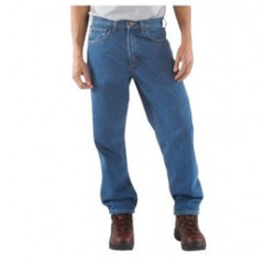 """Carhartt - 35481154423 - Carhartt Size 38"""" X 30"""" Stonewash 15 Ounce Denim Tapered Leg Relaxed Fit Jeans With Zipper Front Closure, And, ( Each )"""