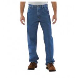 "Carhartt - 35481474682 - Carhartt Size 38"" X 30"" Darkstone 15 Ounce Denim Straight Leg Loose Fit Jeans With Zipper Front Closure, Left-leg hammer loop And, ( Each )"
