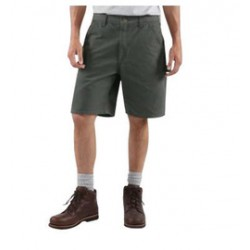 Carhartt - 35481012068 - Carhartt Size 46 Moss 12 Ounce Washed Duck Loose Original Fit Shorts With Zipper Closure And Hammer Loop, ( Each )