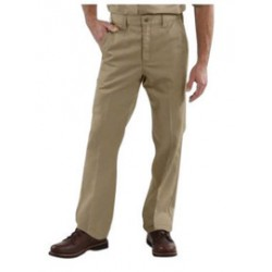 Carhartt - 35481762048 - Carhartt Size 46 X 32 Khaki 8.5 Ounce Twill Straight Leg Pant With Closure, Wrinkle-resistant fabric And Releases stains with Stain Breaker technology, ( Each )