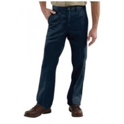 Carhartt - 35481762376 - Carhartt Size 36 X 30 Navy 8.5 Ounce Twill Straight Leg Pant With Closure, Wrinkle-resistant fabric And Releases stains with Stain Breaker technology, ( Each )