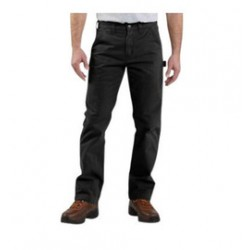 """Carhartt - 35481817144 - Carhartt Size 36"""" X 30"""" Black 9.25 Ounce Twill Straight Leg Relaxed Fit Dungaree With Zipper Front Closure, Multiple tool and utility pockets And Left-leg hammer loop, ( Each )"""