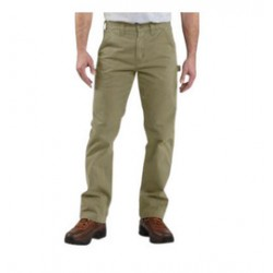 Carhartt - 35481821264 - Carhartt Size 34' X 30' Dark Khaki 9.25 Ounce Twill Straight Leg Relaxed Fit Dungaree With Zipper Closure And Hammer Loop, Multiple Tool And Utility Pockets, ( Each )