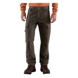Carhartt - 35481896316 - Carhartt Size 33 X 30 Black 9.25 Ounce Ripstop Cotton Straight Leg Relaxed Fit Cargo Pant With Zipper Front Closure, And, ( Each )