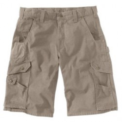 """Carhartt - 35481290145 - Carhartt Size 38"""" Desert 9.25 Ounce Ripstop Relaxed Fit Shorts With Zipper Closure And Cordura Lined Back Pockets, ( Each )"""