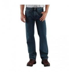 "Carhartt - 35481854545 - Carhartt Size 38"" X 34"" Dark Vintage Blue 15 Ounce Denim Straight Leg Jeans With Zipper Front Closure, And, ( Each )"