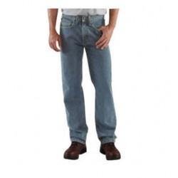 "Carhartt - 35481854798 - Carhartt Size 38"" X 34"" Light Vintage Blue 15 Ounce Denim Straight Leg Jeans With Zipper Front Closure, And, ( Each )"