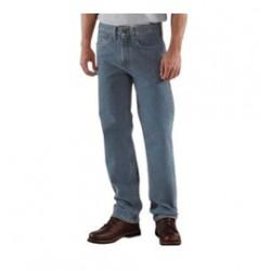 "Carhartt - 35481758164 - Carhartt Size 32"" X 32"" Deepstone 15 Ounce Denim Straight Leg Straight Traditional Fit Jeans With Zipper Closure, ( Each )"