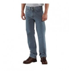 """Carhartt - 35481758355 - Carhartt Size 38"""" X 34"""" Deepstone 15 Ounce Denim Straight Leg Straight Traditional Fit Jeans With Zipper Front Closure, And, ( Each )"""