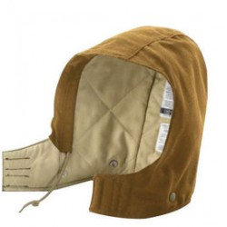 Carhartt - 35481643651 - Carhartt One Size Fits Most Carhartt Brown Canvas Medium Weight Flame-Resistant Hood With Quilted Lining And Hook And Loop Closure And, ( Each )