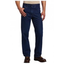 Carhartt - 35481411946 - Carhartt Size 34 X 34 Denim Denim Straight Leg Flame-Resistant Jeans With Front Zipper Closure, ( Each )