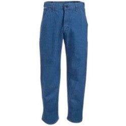 "Carhartt - 35481540332 - Carhartt Size 33"" X 36"" Denim Straight Leg Flame-Resistant Jeans With Front Zipper Closure, ( Each )"