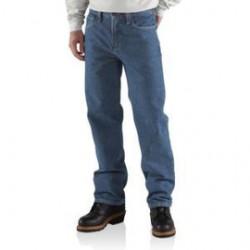 Carhartt - 35481540677 - Carhartt Size 42 X 36 Denim Denim Straight Leg Flame-Resistant Shirt With Front Zipper Closure And, ( Each )
