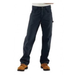"""Carhartt - 35481504907 - Carhartt Size 42"""" X 30"""" Dark Navy Canvas Straight Leg Flame-Resistant Canvas Pants With Front Zipper Closure And Cell Phone Pocket On Left Leg And Multiple Utility Pocket On Right Leg, ( Each )"""
