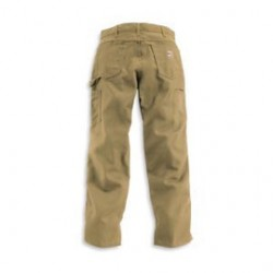 "Carhartt - 35481505522 - Carhartt Size 46"" X 30"" Golden Khaki Canvas Straight Leg Flame-Resistant Canvas Pants With Front Zipper Closure And Cell Phone Pocket On Left Leg And Multiple Utility Pocket On Right Leg, ( Each )"