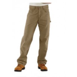 """Carhartt - 35481505225 - Carhartt Size 46"""" X 34"""" Golden Khaki Canvas Straight Leg Flame-Resistant Canvas Pants With Front Zipper Closure And Cell Phone Pocket On Left Leg And Multiple Utility Pocket On Right Leg, ( Each )"""